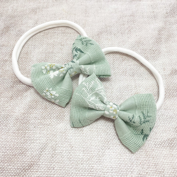 Cotton Baby Bow Headband / DEWDROP