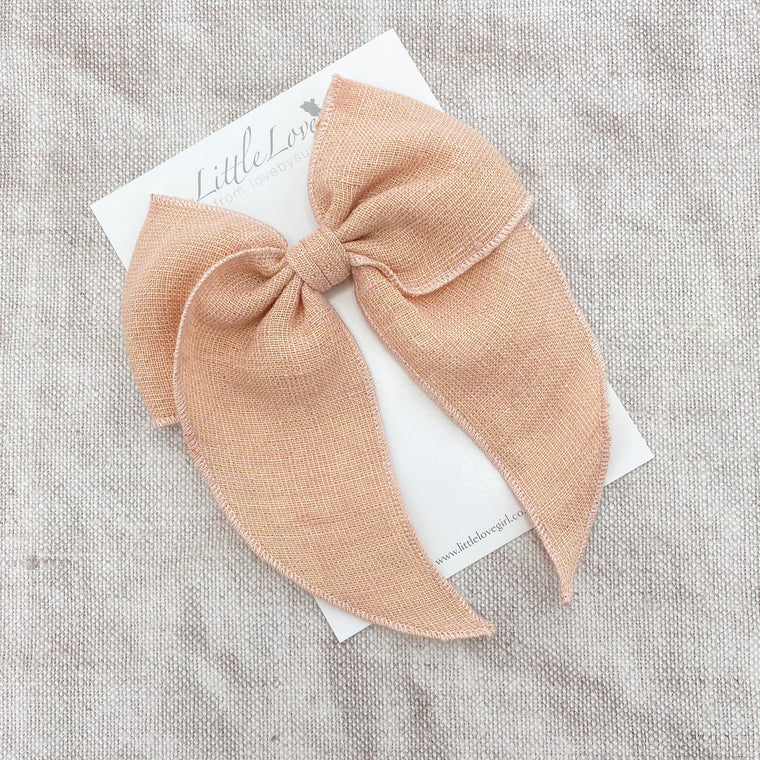 Prairie Bow Linen / Rose Luxe
