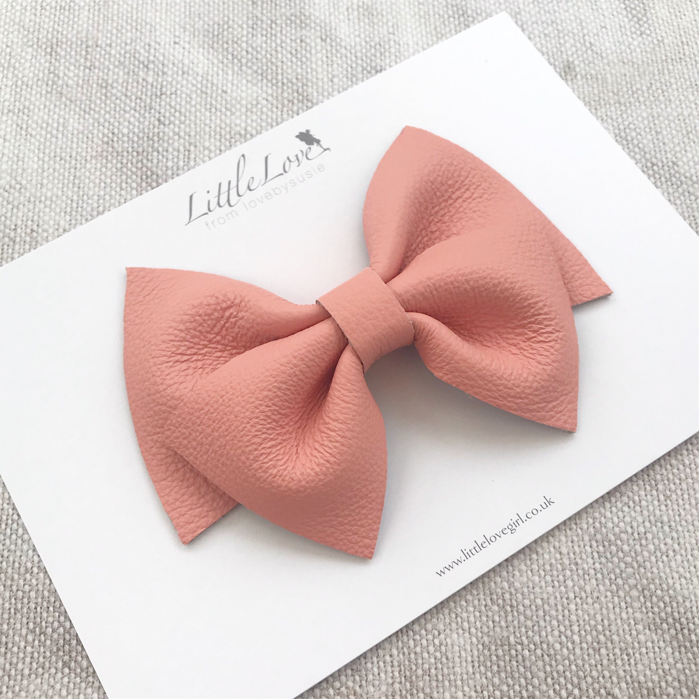 Leather Bow Hair Clip/ MARNI
