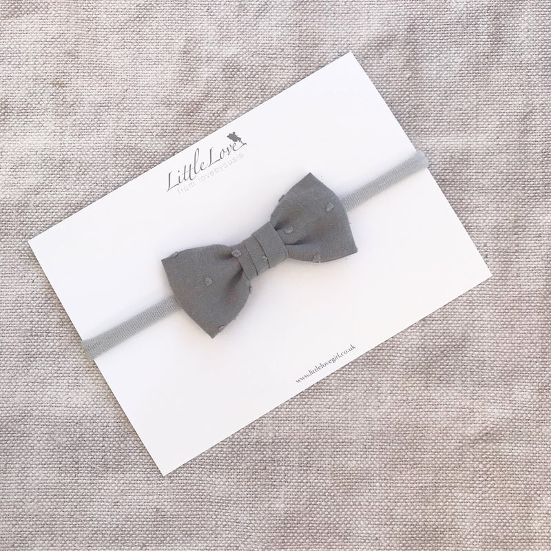 Swiss Dot Cotton Bow Baby Headband