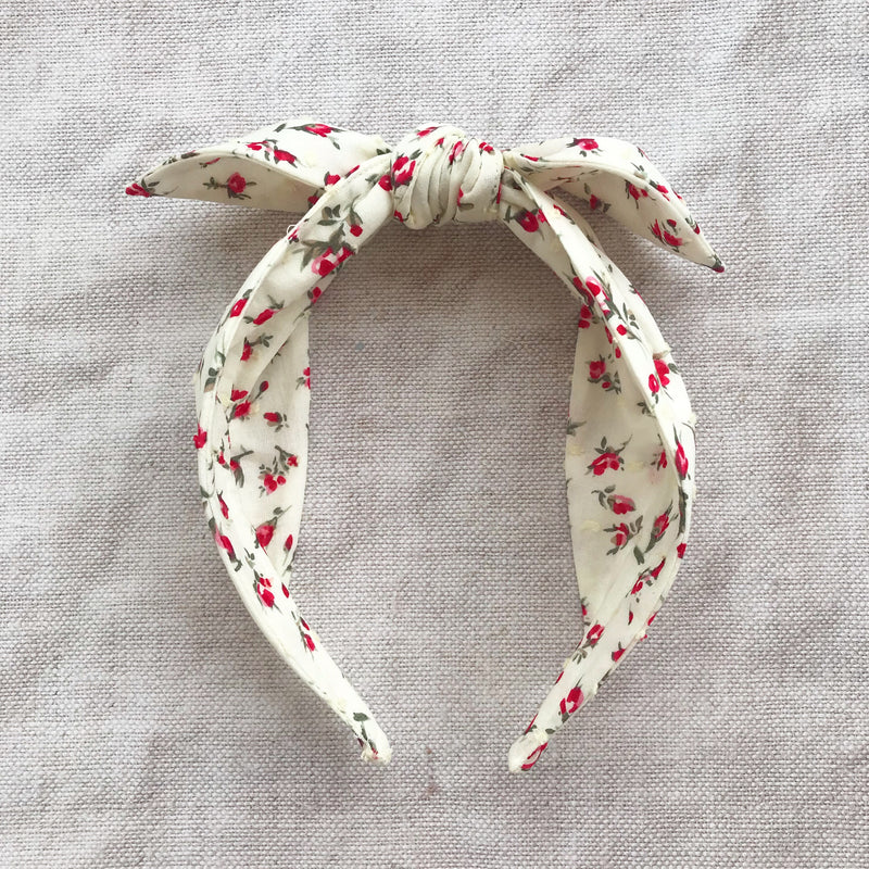 ROSEBUDS Swiss Dot Knot Headband