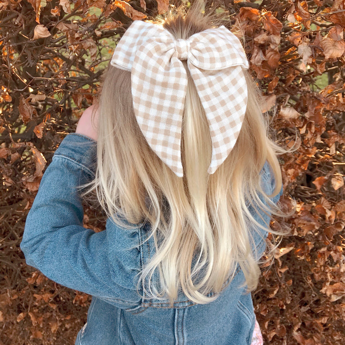 Folk Bow Classic/ Biscuit Gingham