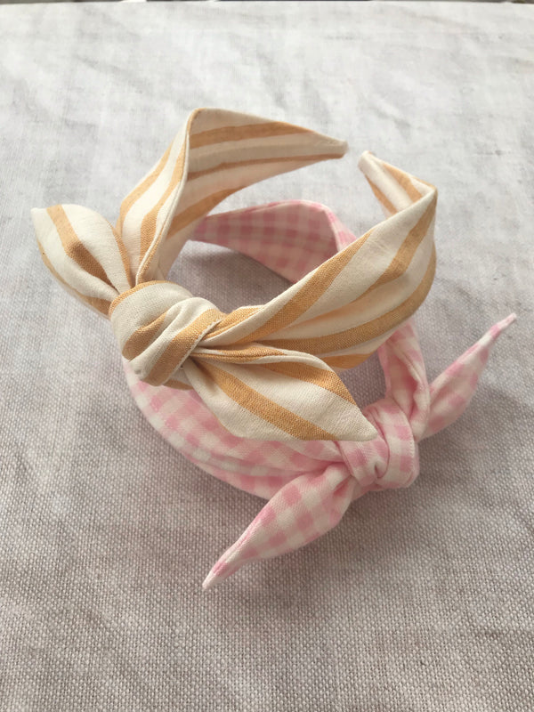 Sunshine Stripe Cotton Bow Headband