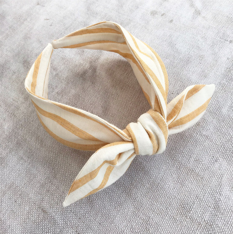 Sunshine Stripe Cotton Bow Hairband