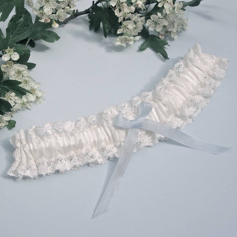 Ivory Silk Wedding Garter Florencia