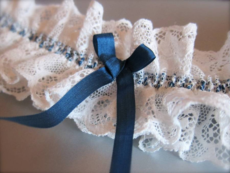 Lucille Ivory Lace Wedding Garter