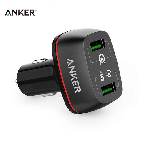Anker Car Charger Quick Charge 3.0 Car-Charger 2A 42W Lighter USB Smart Charger 5V/4.8A Fast Charger 9V/12V/2A Chargeur USB