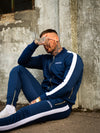 Navy Poly Tracksuit Pants