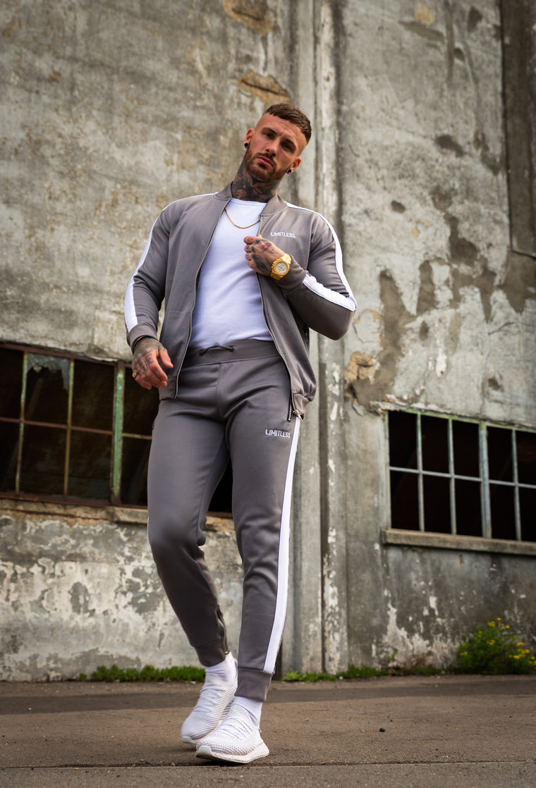 Grey Poly Tracksuit Pants