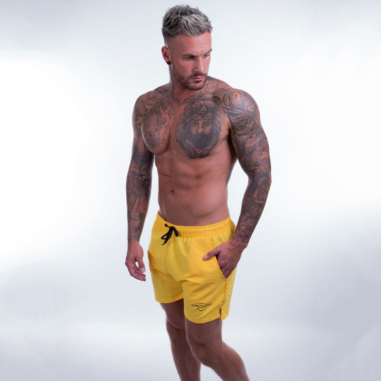 Men's shorts yellow