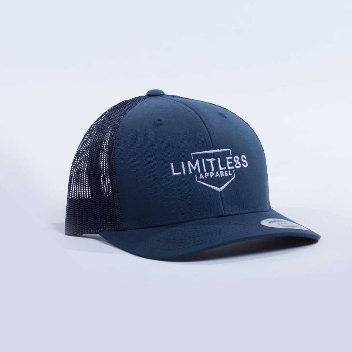 Retro trucker cap navy