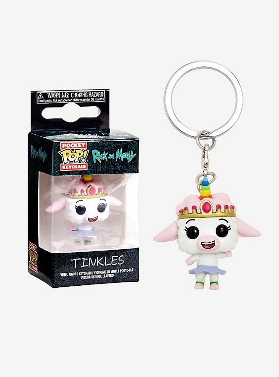Rick and Morty Keychain Tinkles-funko- nuvolosofumetti.
