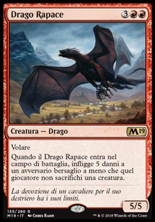 Drago Rapace  M19 135-Wizard of the Coast- nuvolosofumetti.