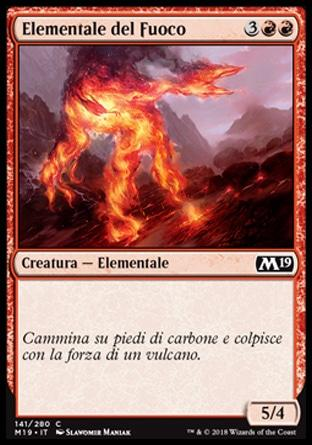 Elementale del Fuoco  M19 141-Wizard of the Coast- nuvolosofumetti.