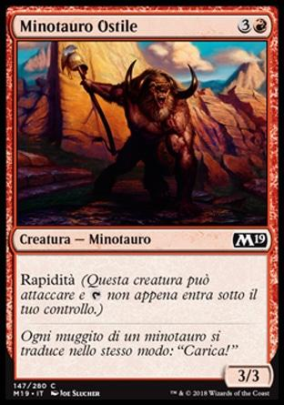Minotauro Ostile  M19 147-Wizard of the Coast- nuvolosofumetti.