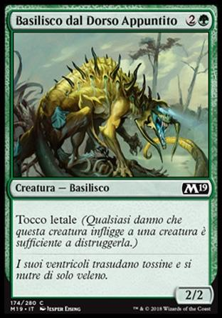 Basilisco dal Dorso Appuntito  M19 174-Wizard of the Coast- nuvolosofumetti.