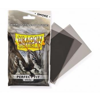 Dragon Shield 100 Perfect Fit inner card sleeves SMOKE-Dragon Shield- nuvolosofumetti.