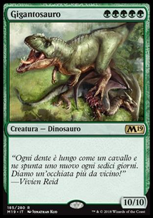 Gigantosauro  M19 185-Wizard of the Coast- nuvolosofumetti.