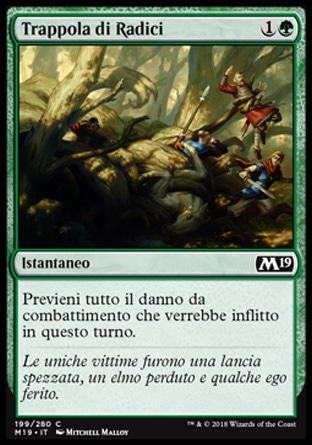 Trappola di Radici foil  M19-wizard of the coast- nuvolosofumetti.