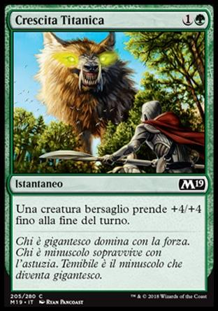 Crescita Titanica  M19 205-Wizard of the Coast- nuvolosofumetti.