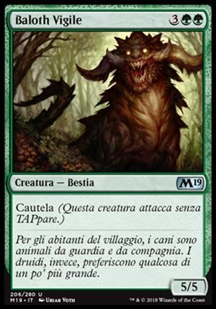 Baloth Vigile foil  M19-wizard of the coast- nuvolosofumetti.