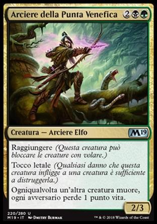 Arciere della Punta Venefica  M19 220-Wizard of the Coast- nuvolosofumetti.