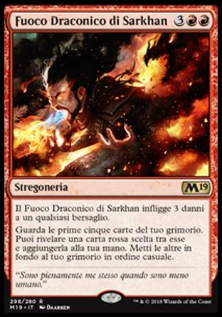 Fuoco Draconico di Sarkhan  M19 298-Wizard of the Coast- nuvolosofumetti.