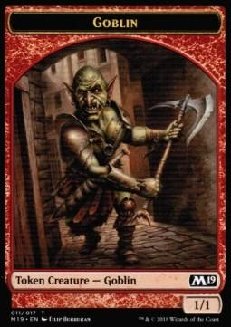 Goblin token  M19 327-Wizard of the Coast- nuvolosofumetti.