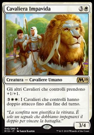 Cavaliera Impavida  M19 42-Wizard of the Coast- nuvolosofumetti.