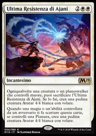 Ultima Resistenza di Ajani  M19 4-Wizard of the Coast- nuvolosofumetti.
