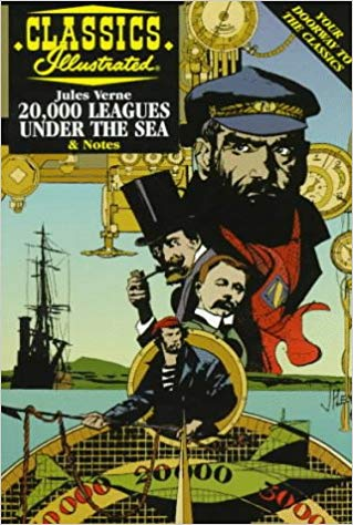 Classics Illustrated 20,000 LEAGUES UNDER THE SEA & notes