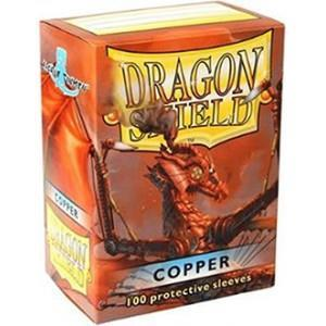 Dragon Shield 100 Standard card sleeves Copper-Dragon Shield- nuvolosofumetti.
