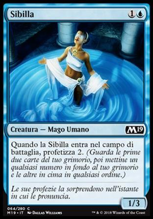 Sibilla foil  M19-wizard of the coast- nuvolosofumetti.