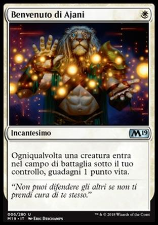 Benvenuto di Ajani  M19 6-Wizard of the Coast- nuvolosofumetti.