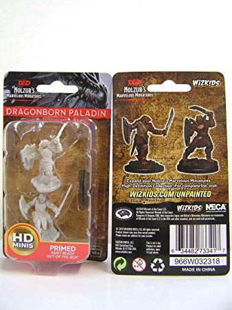 Dungeons & Dragons - Nolzur's Marvelous Miniatures - Dragonborn Male Paladin