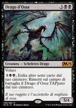 Drago d'Ossa  M19 88-Wizard of the Coast- nuvolosofumetti.