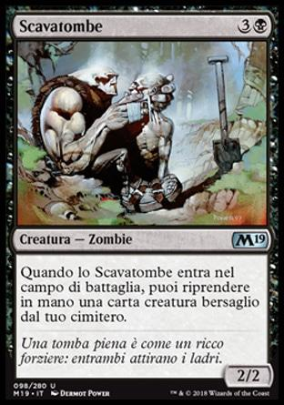 Scavatombe foil  M19-wizard of the coast- nuvolosofumetti.