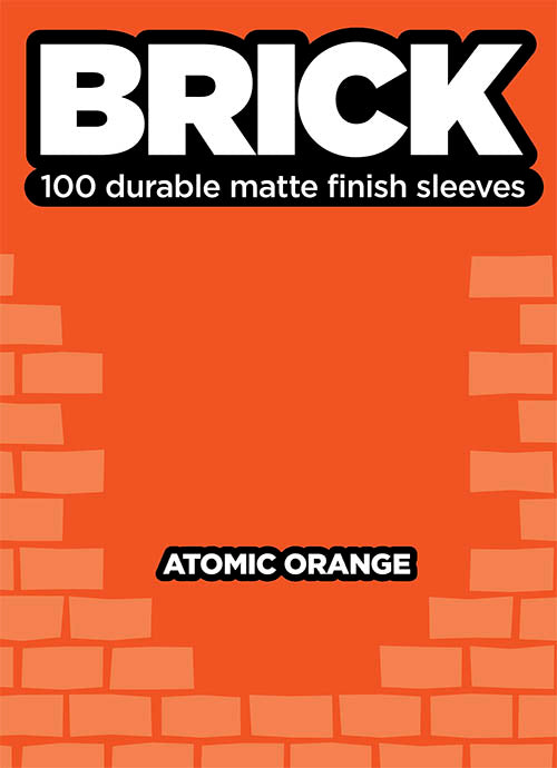 Buste per Cards Brick 100 Matte finish cleeves - atomic orange-legion- nuvolosofumetti.