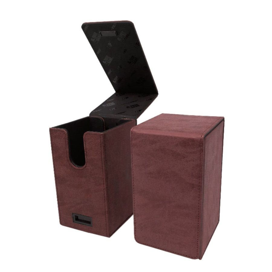 ALCOVE TOWER FLIP BOX - SUEDE COLLECTION: RUBY