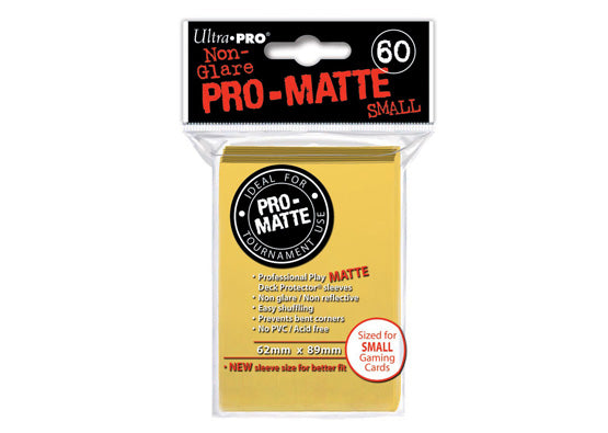 UP 60 MINI DECK PROTECTOR PRO MATTE bright yellow - 62 mm x 89 mm-ULTRA PRO- nuvolosofumetti.