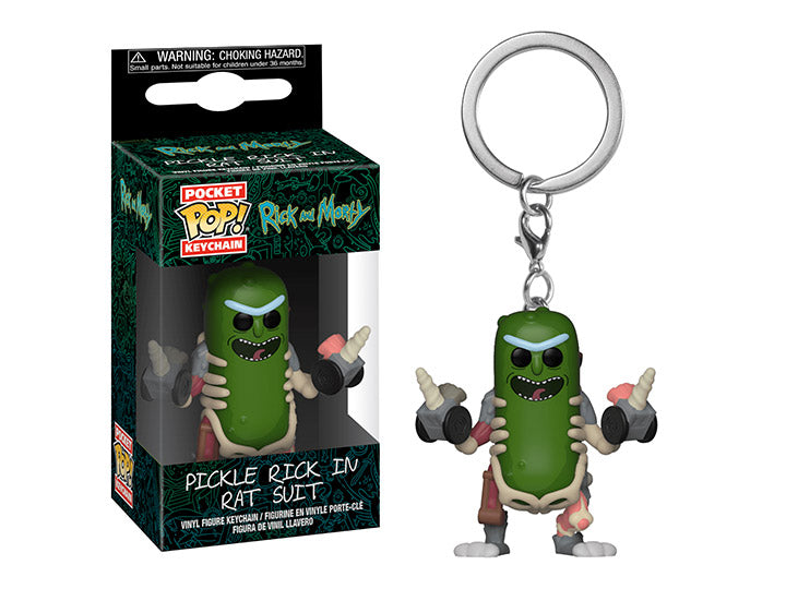 Rick and Morty Keychain - Picle Rick in rat suit-funko- nuvolosofumetti.