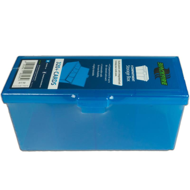 4-compartment Storage Box - Blue 320 + cards-Blackfire- nuvolosofumetti.