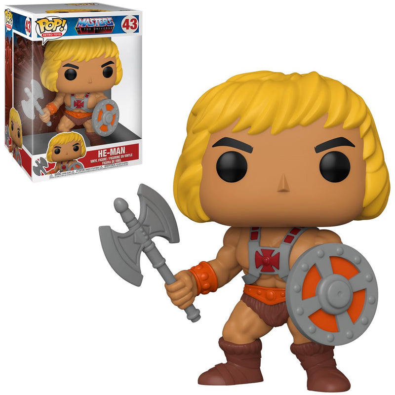 POP ANIMATION MASTERS OF THE UNIVERSE 10 INCH HE-MAN, FUNKO, nuvolosofumetti,
