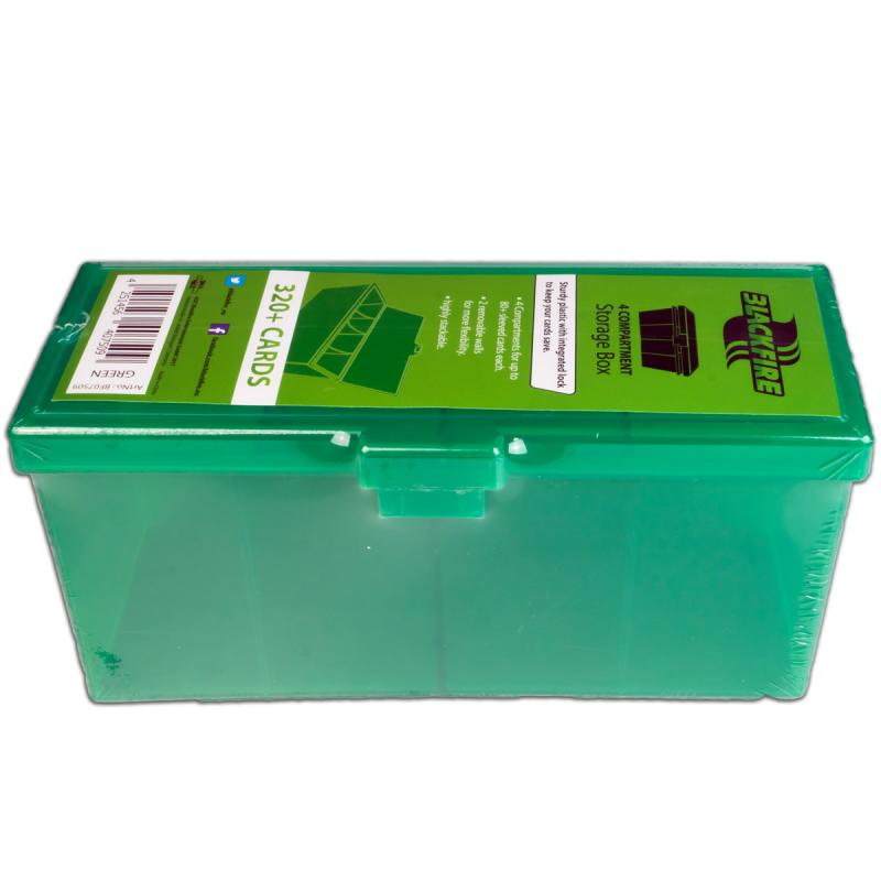 4-compartment Storage Box - green 320 + cards-Blackfire- nuvolosofumetti.