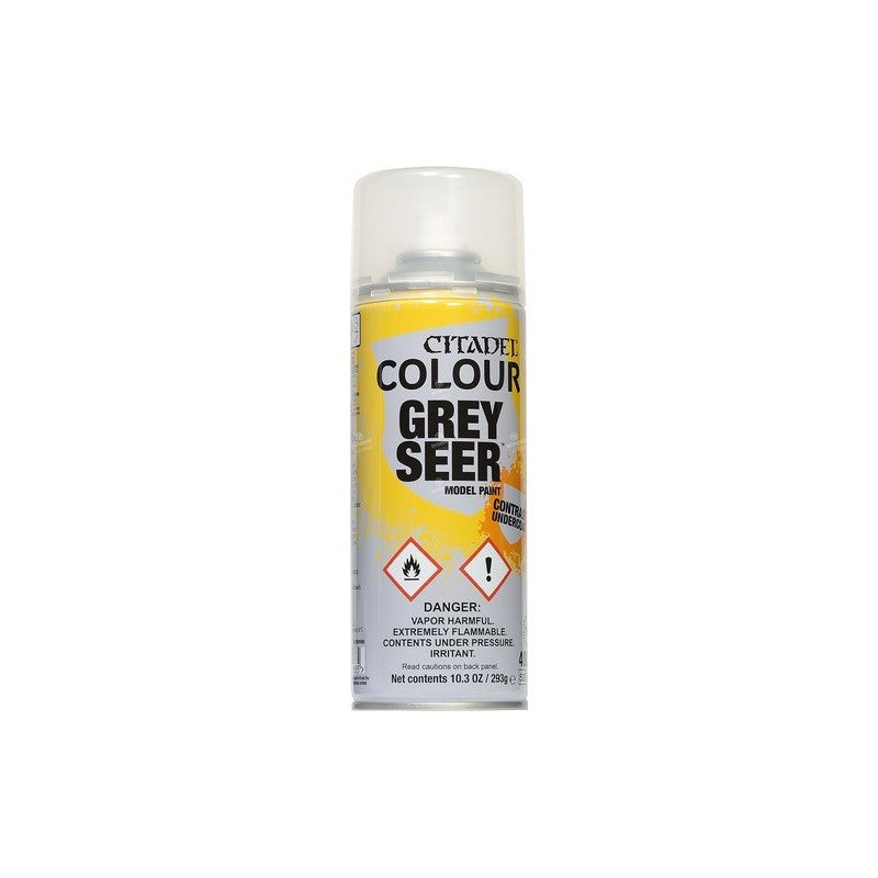 GREY SEER contrast undercoat SPRAY citadel MODEL PAINT bomboletta 400 ML base GRIGIO