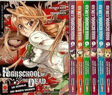 Highschool of the dead dal n. 1/7 edizioni Panini Comics-COMPLETE E SEQUENZE- nuvolosofumetti.