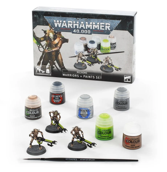 Necrons warriors Paint set, GAMES WORKSHOP, nuvolosofumetti,