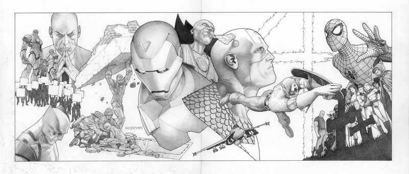 Eroi Marvel in bianco e nero CIVIL WAR DI MARK MILLAR E STEVE MCNIVEN-PANINI COMICS- nuvolosofumetti.