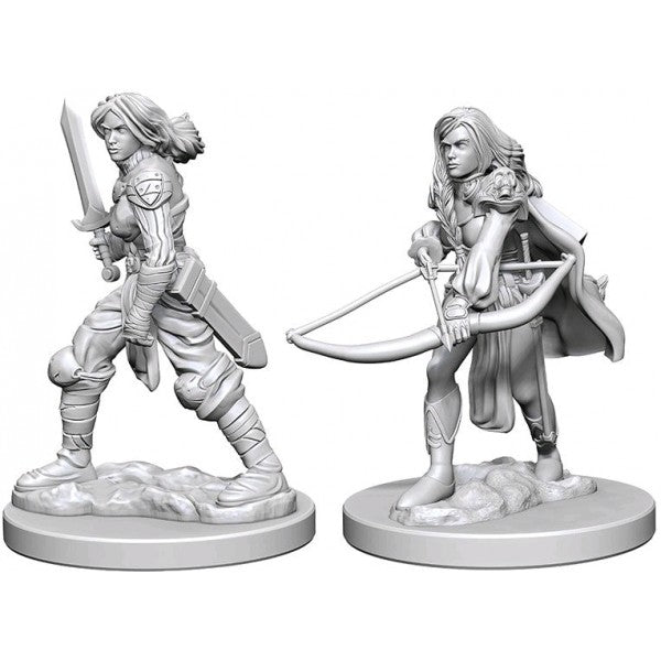 Pathfinder deep cuts unpainted - human female fighter