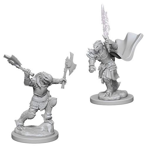Dungeons & Dragons Nolzur's Marvellous Miniatures - Dragonborn Female Fighter-WIZKIDS/NECA- nuvolosofumetti.